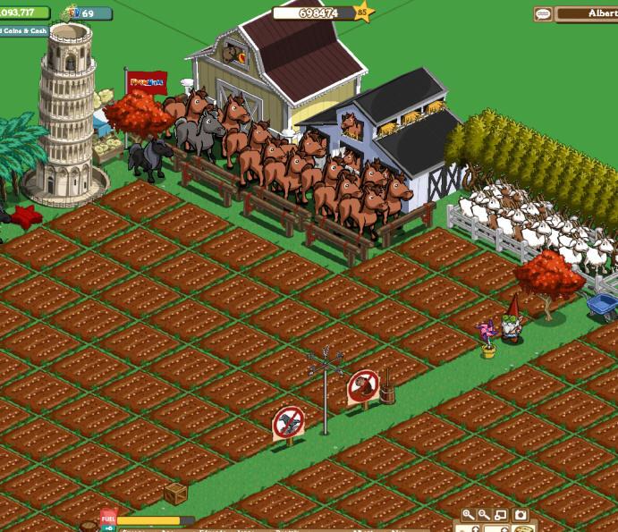 nivel 85 Farmville (click para ampliar)